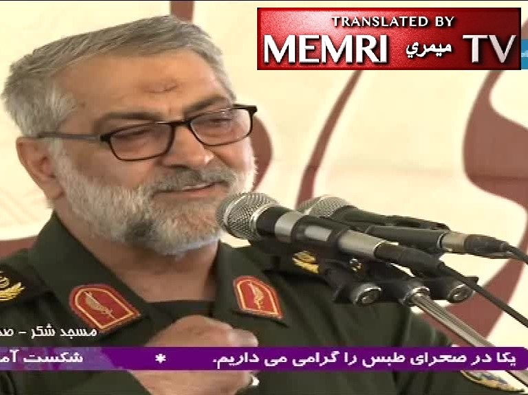 IRGC General Abolfazl Shekarchi: We Will Squash America under Our Feet, Squeeze Its Throat Until It Chokes; It Is Our Duty To Bring an End to Its Life